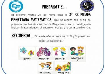 3° Olimpiada Matemática Piagetiana